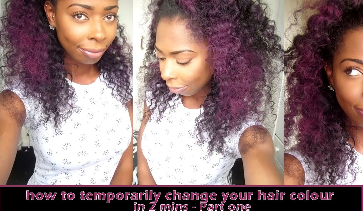 How To Temporarily Change Your Hair Colour In 2 Mins Part One