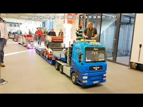 Grand parade of trucks large scale in Wels modellbau 2015