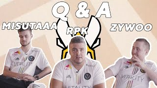 Zywoo, RPK and Misutaaa sit down and answer some most asked questions | @Team Vitality Q & A