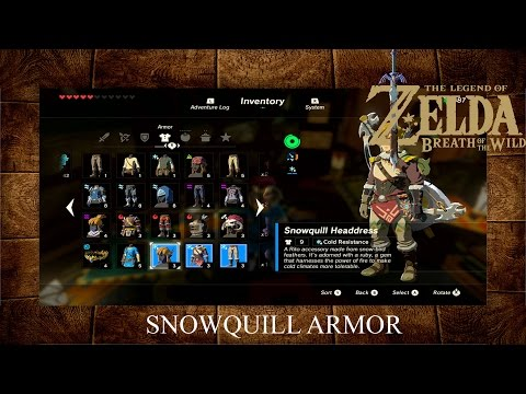 Zelda Breath Of The Wild Snowquill Armor / Frost Armor