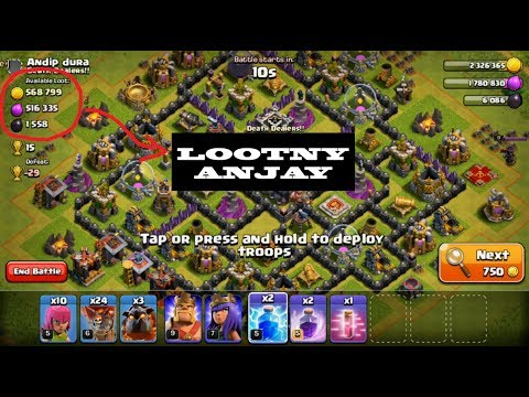 LIGA GOLD GILA LOOT!!! FARMING MANTAP!!! LIVE ATTACK!!!