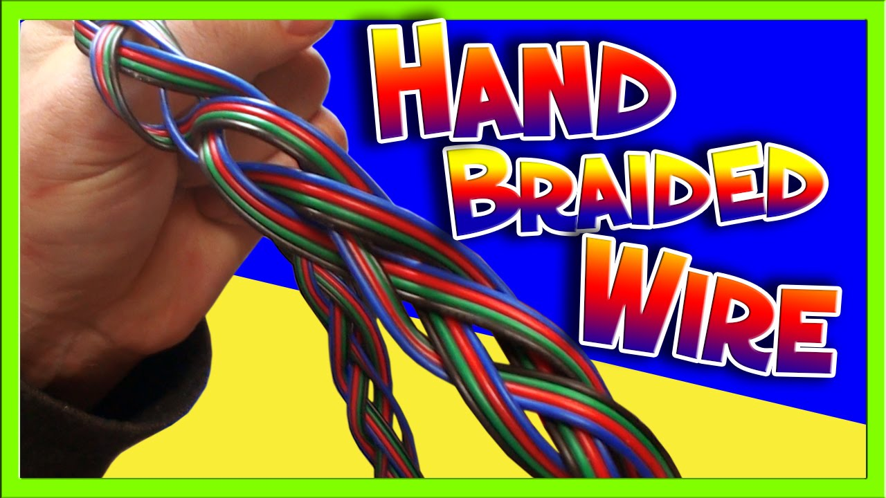 How to braid a wire tether into a cable - YouTube