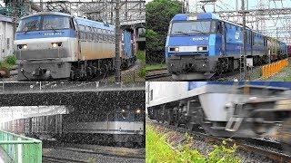 2017,6,18と19 貨物列車 いろいろいっぱい12本 梅雨空の神奈川をゆく貨物列車たち