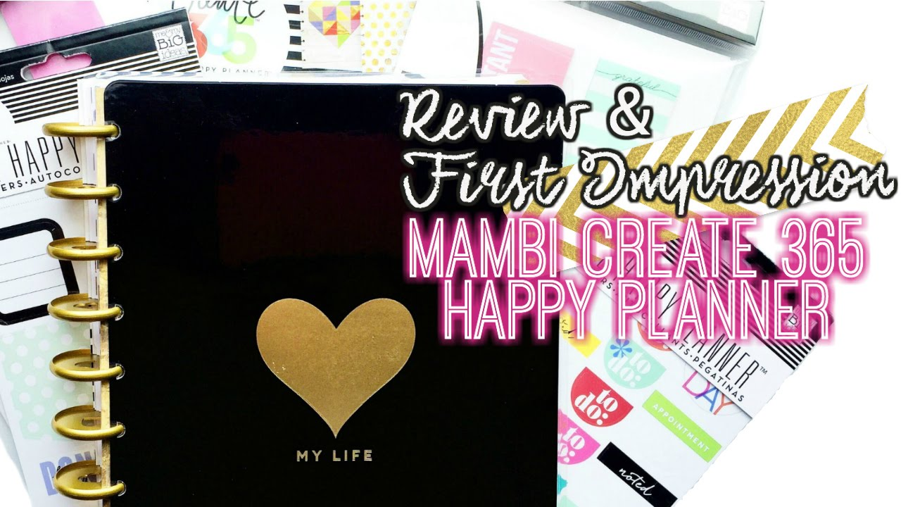 review mambi create 365 my life happy planner accessories youtube