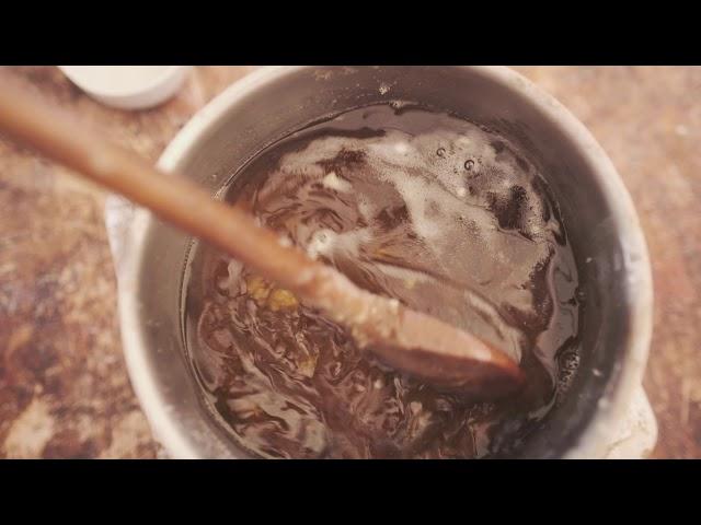 Sehnenwachs kochen - Bogenpflege - Sehne