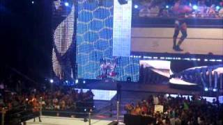 WWE Smackdown Triple H Talking To Crowd After Fight LIVE in Spokane UNAIRED