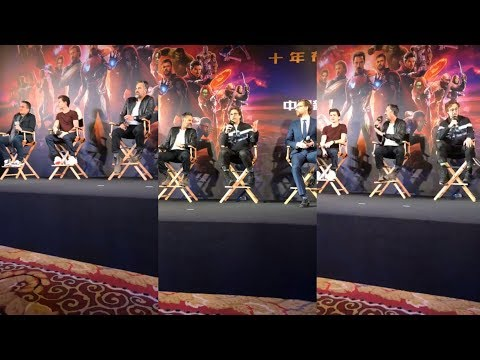 Avengers: Infinity War   Press Conference China   Instagram Live Stream   via Robert Downey Jr