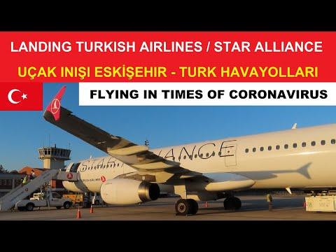 LANDING / UÇAK INIŞI ESKİŞEHİR AIRPORT TURKEY - TURKISH AIRLINES STAR ALLIANCE - HASAN POLATKAN