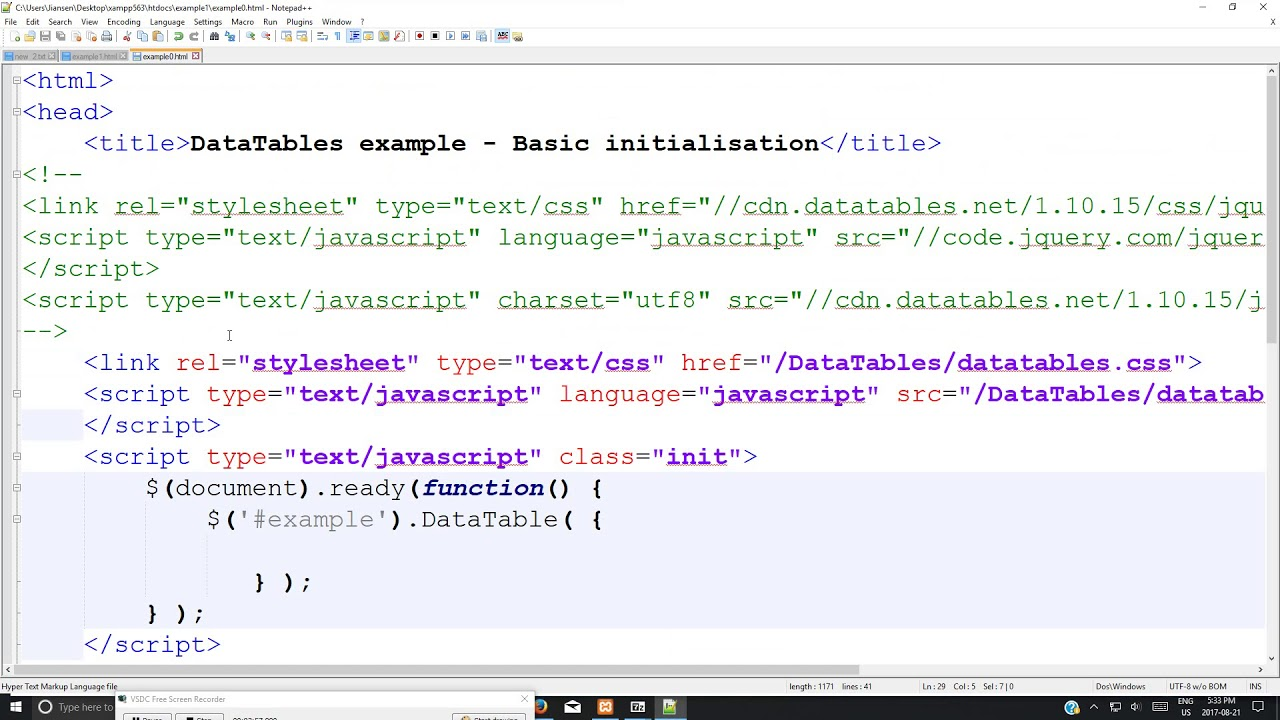 NPM INSTALL JQUERY DATATABLES NET - DataTables (1) -Install