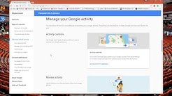 Remove Google Account Search Activity Off All Your Devices