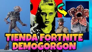 TIENDA *FORTNITE SKIN FILTRADA *DEMOGORGON STRANGER THINGS Y JEFE HOPPER