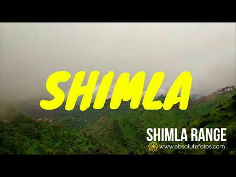 Shimla Hills Time Lapse (4k 60fps) | 5.1 Channel Sound | Cloudy Sky | Green Himalayas | Hill Forest