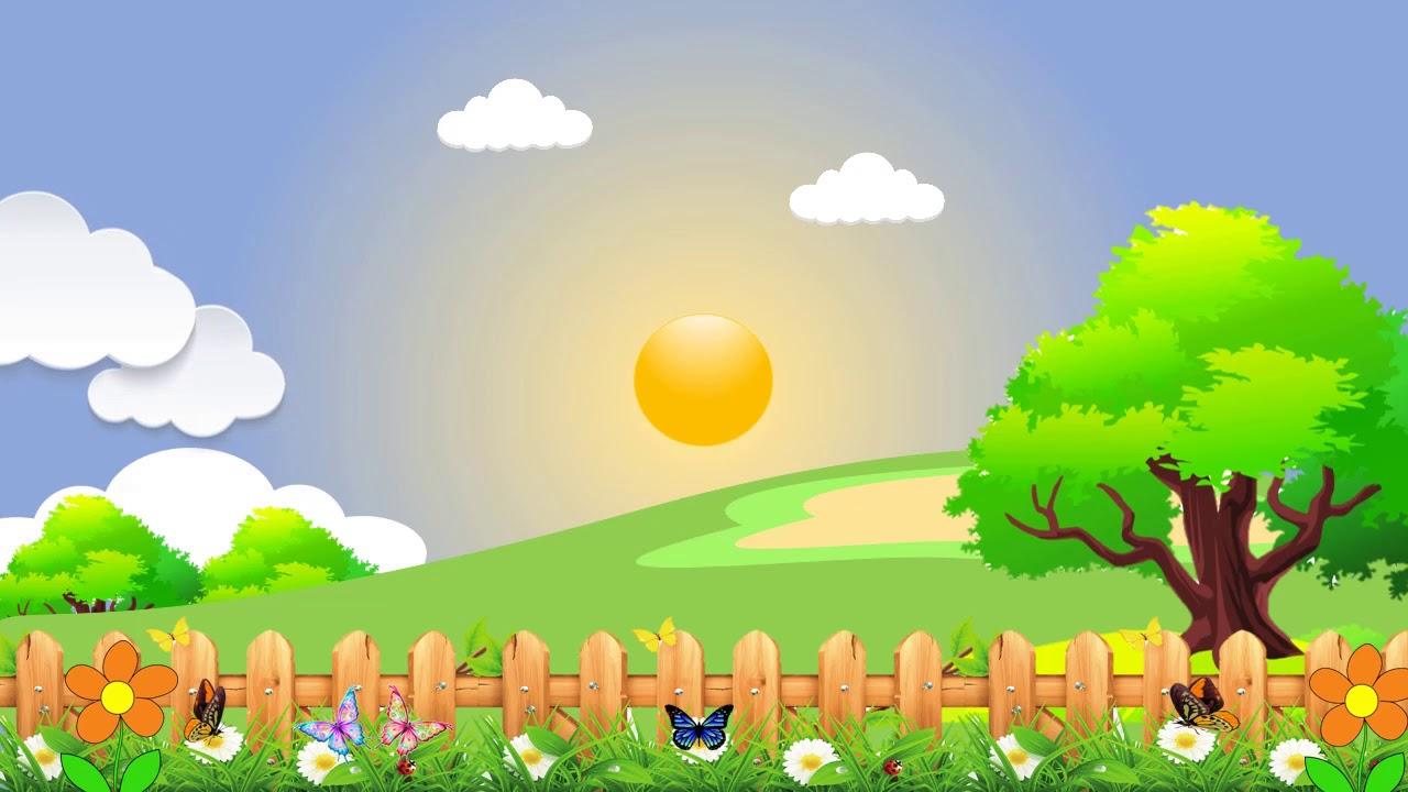 Background Animasi Pemandangan Alam, Awan Bergerak [2] - YouTube
