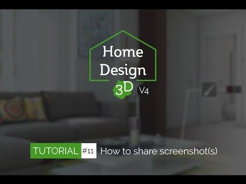 Home Design 3D - TUTO 11 - Share Screenshot(s)