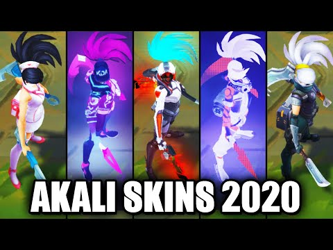 All Akali Skins Spotlight 2020 (League of Legends)