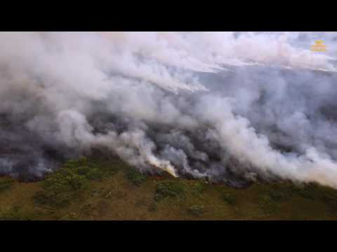 Рузаевка,СКО, Пожар с Высоты [4K Video] Drone Footage - DJI Phantom 3