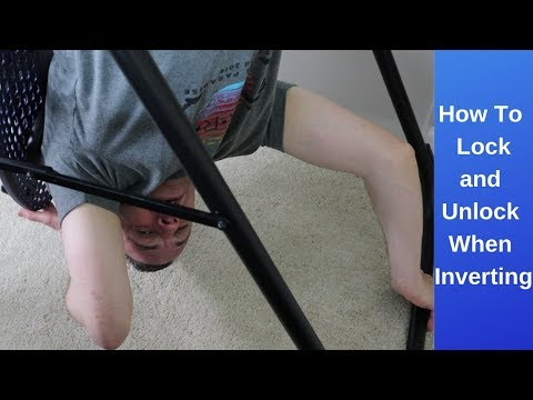 How To Lock And Unlock Yourself From Inverting On A Teeter Inversion Table