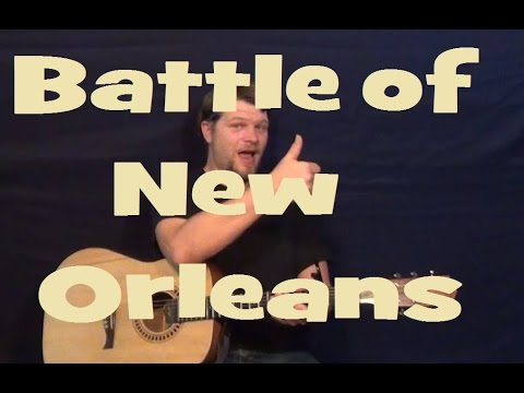 Battle Of New Orleans Johnny Horton Easy Guitar Lesson How To Play