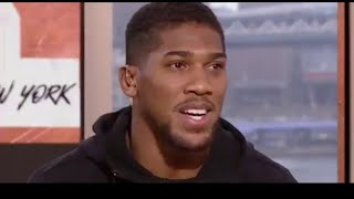 ANTHONY JOSHUA NOT TRUTHFUL AND TRIES TO DECEIVE FANS,WANTING WILDER