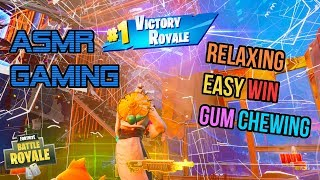 ASMR Gaming ???? Fortnite Easiest Win Ever Relaxing Gum Chewing ???????? Controller Sounds + Whispering ????