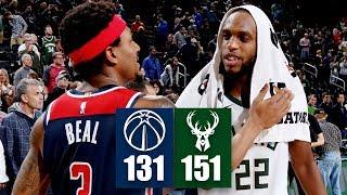 Khris Middleton, Bradley Beal duel in Wizards vs. Bucks shootout | 2019-20 NBA Highlights