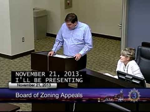 11/21/13 Board of Zoning Appeals Meeting