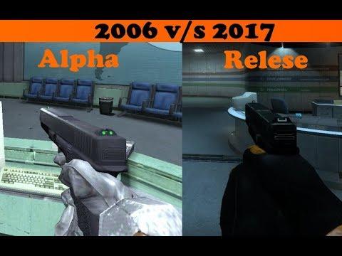 Black mesa Weapon comparison ALPHA 2006 vs 2017