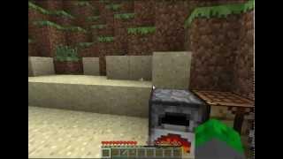 Minecraft Rehberi 3-Meşale Yapımı Ve Ocak Kullanımı|Et Pişirme|Cam Yapma