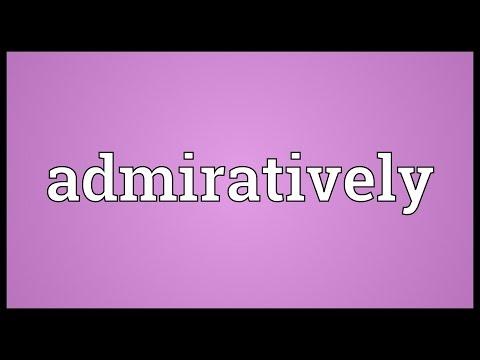 Header of admiratively