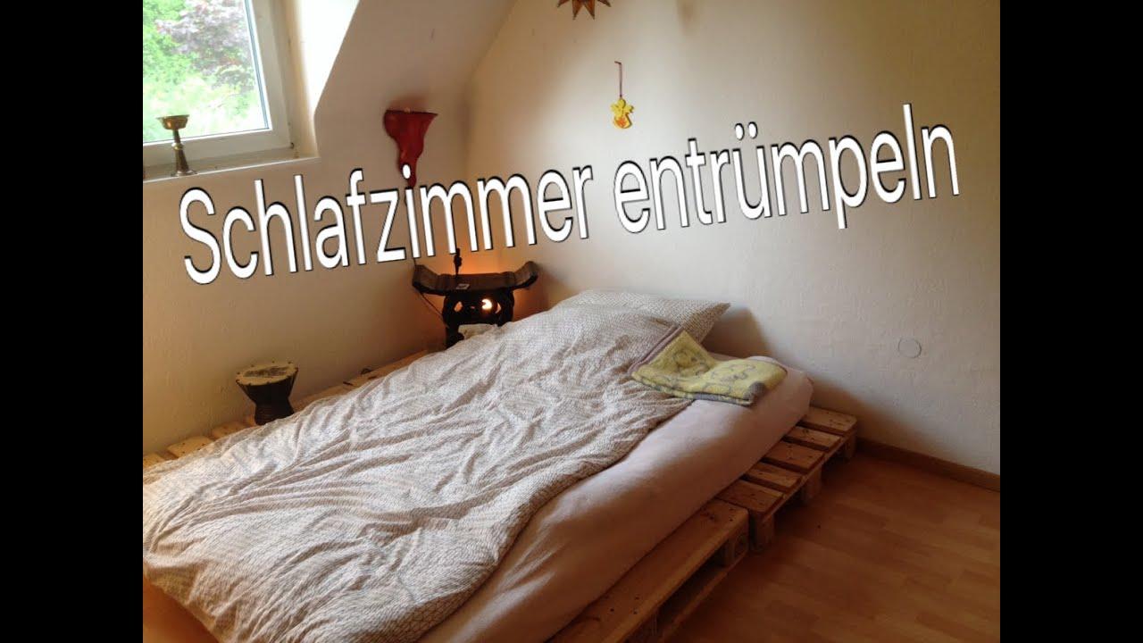Minimalismus schlafzimmer ausmissten umbauen youtube for Youtube minimalismus