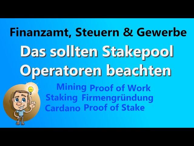 CARDANO Das müssen Stakepool Operatoren berücksichtigen | Martin Figatowski & Aaron Seeberg Intervew