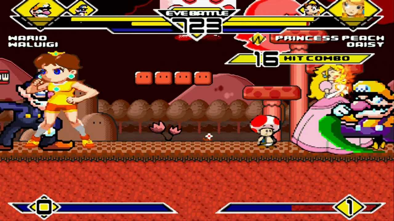 Download Wario & Waluigi vs Peach & Daisy MUGEN Battle!!!