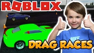 DRAG RACES in ROBLOX VEHICLE SIMULATOR | CARS AND BOATS RACING !