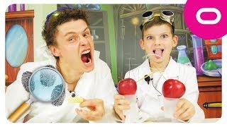 Играем в детектива Снимаем отпечатки пальцев Яблочные часы для детей Развивающее видео