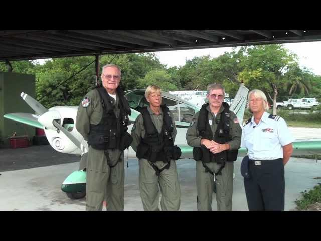 Coast Guard Aux Aviation Program explained by Flotilla Commander Sue Redding - a Conch Records video