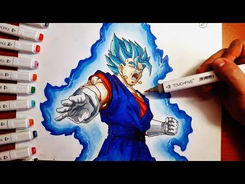 DISEGNO Vegeth/Vegito SSJ Blue [DRAGONBALL SUPER] Speed Drawing