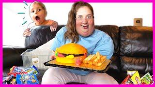 HEALTHY VS. JUNK FOOD CHALLENGE with Kin Tin!!