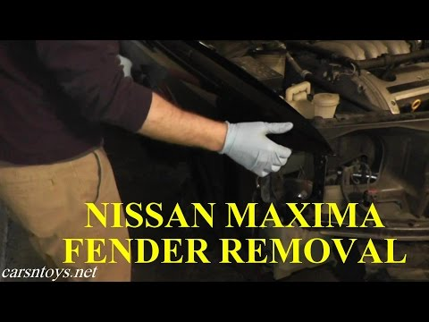 Nissan Maxima Fender Removal with Basic Hand Tools