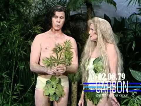 Betty White & Johnny Carson in Funny Skit as Adam and Eve on Johnny Carson's Tonight , 1979