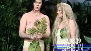 Betty White & Johnny Carson in Funny Skit as Adam and Eve on Johnny Carson