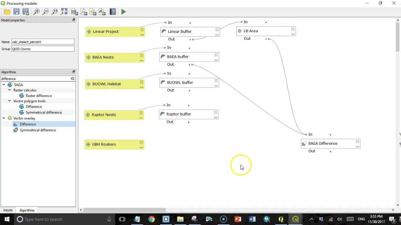 Exploring the graphical modeler in QGIS 3 0 - Geospatial