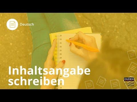 Inhaltsangabe schreiben - Deutsch | Duden Learnattack