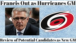 Ron Francis out as GM with Carolina Hurricanes