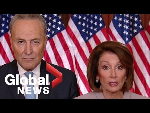 Pelosi, Schumer: Trump throwing 'temper tantrum' while he holds federal workers 'hostage'