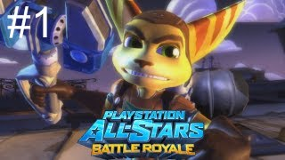 Let's Play Playstation All Stars Battle Royale Part 1: Ratchet Start