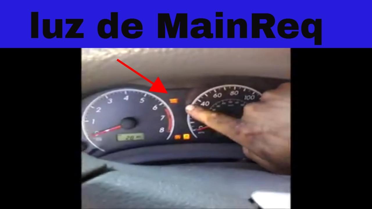 Como Apagar Luz De Mantenimiento Mainreq Toyota Corolla