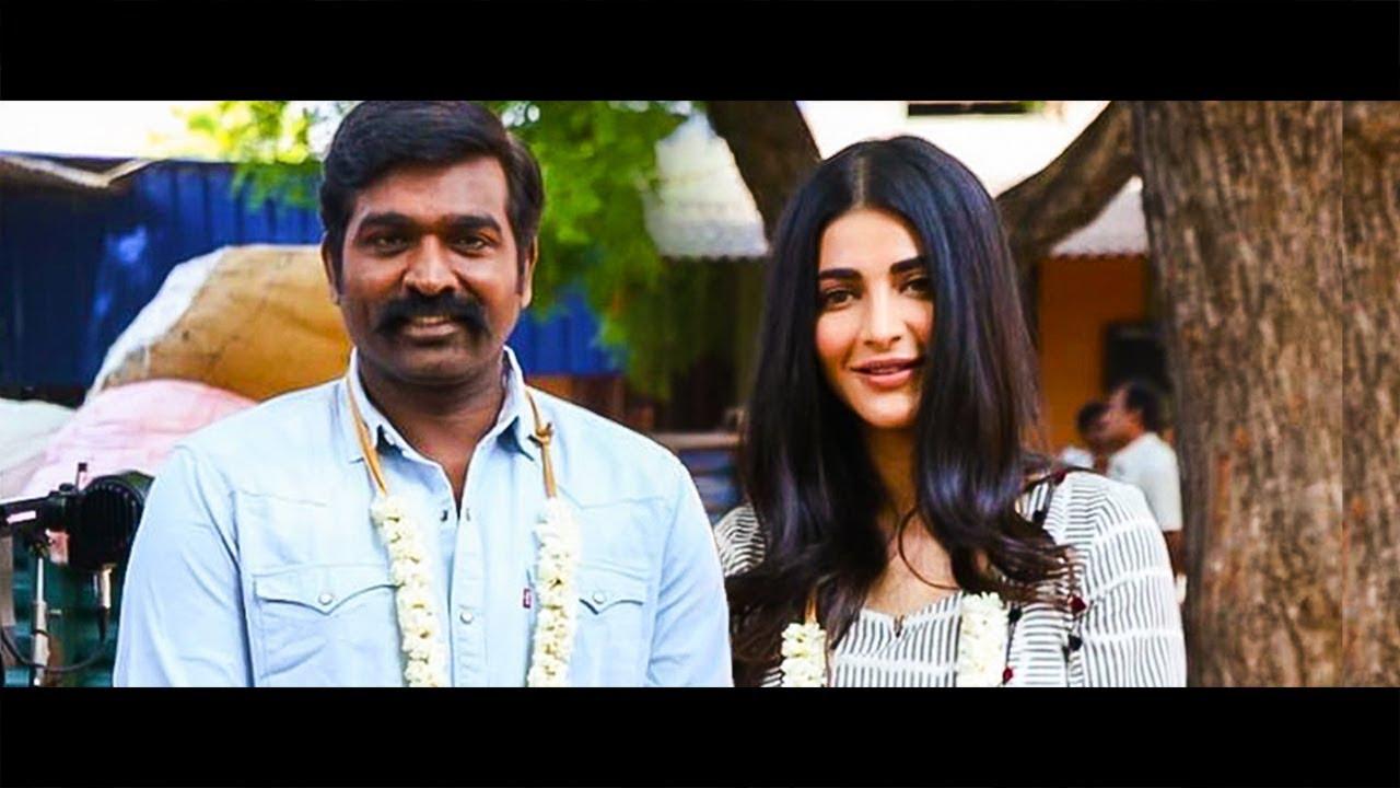 Vijay Sethupathi Shruthi Haasan Kick Start their Next   Hot Tamil Cinema News