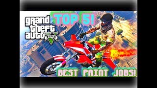 TOP 5 AWESOME PAINT JOBS FOR THE NEW ROCKET BIKE( PAGASSI OPPRESSOR ){ CINEMATIC} (GUNRUNNING DLC)