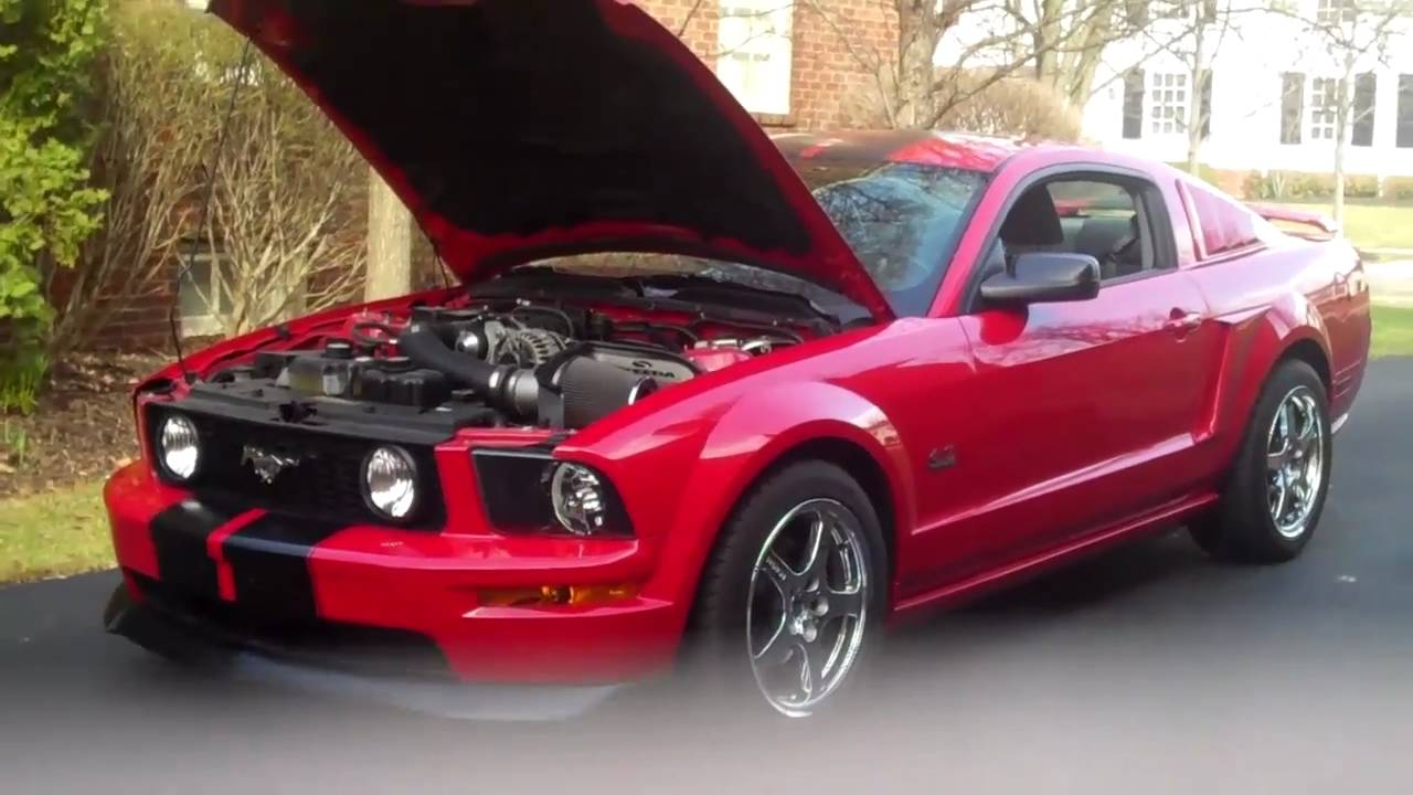 2008 ford mustang gt premium supercharged v8 rev youtube. Black Bedroom Furniture Sets. Home Design Ideas