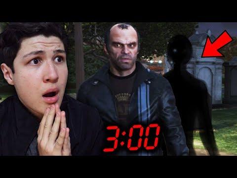 ESTO PASA SI VAS AL CEMENTERIO DE GTA V A LAS 3:00 AM... GRAND THEFT AUTO 5 thumbnail